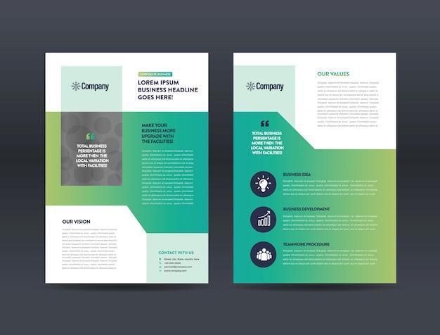 Design de folheto comercial