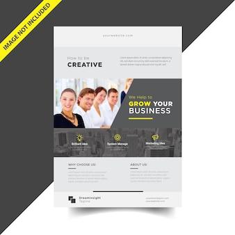 Design de folheto corporativo de negócios