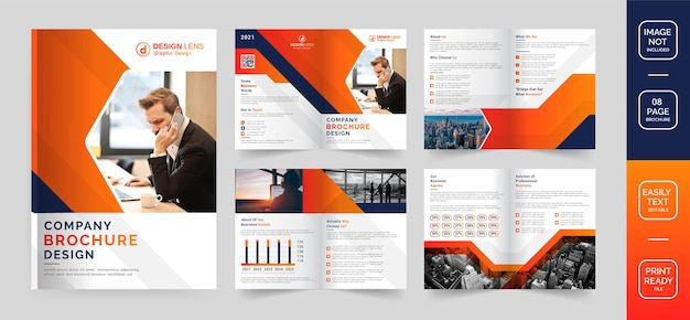 Design de folheto corporativo moderno