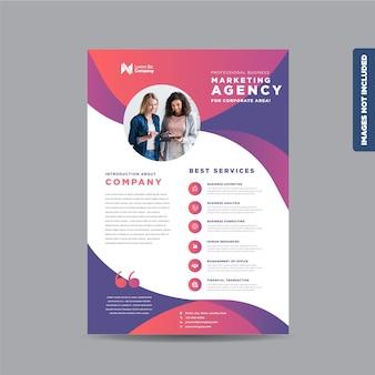 Design de folheto corporativo ou folheto e design de folheto ou folheto de marketing design de folheto