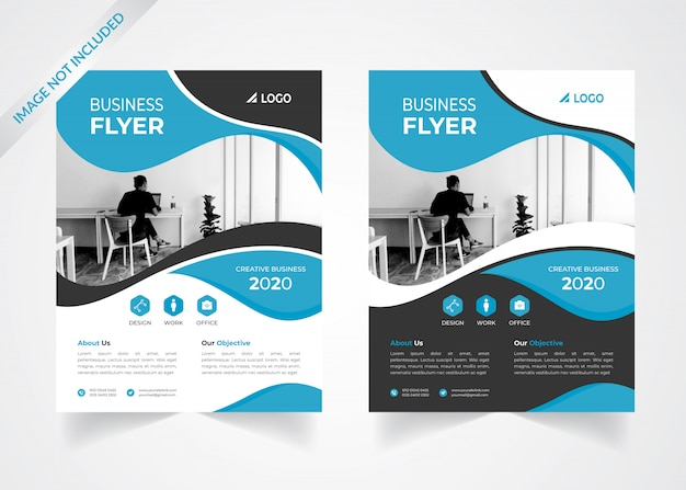 Design de folheto corporativo