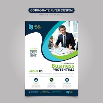 Design de folheto corporativo