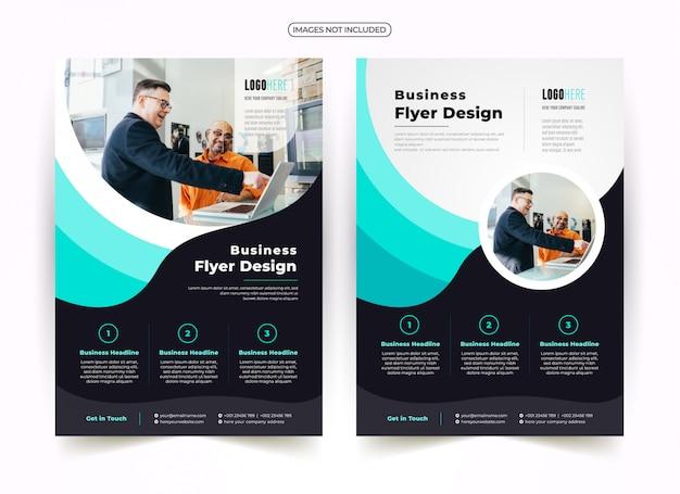 Design de folheto criativo de onda