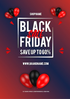 Design de folheto da black friday sale