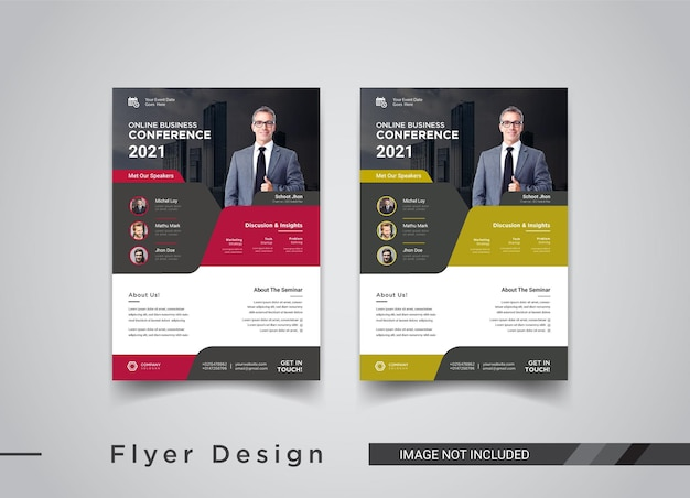 Design de folheto de conferência de negócios online