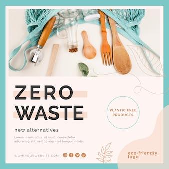 Design de folheto de desperdício zero