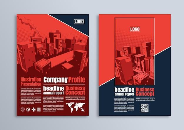 Design de folheto de folheto, modelo comercial em tamanho a4, para apresentação, imagens de capa de perfil de empresa.