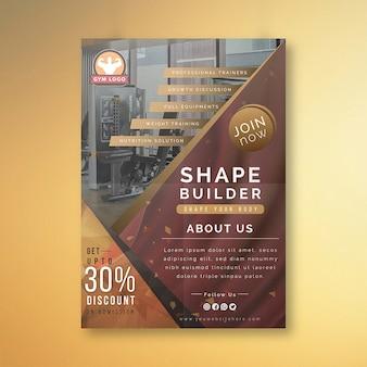 Design de folheto de ginásio criativo