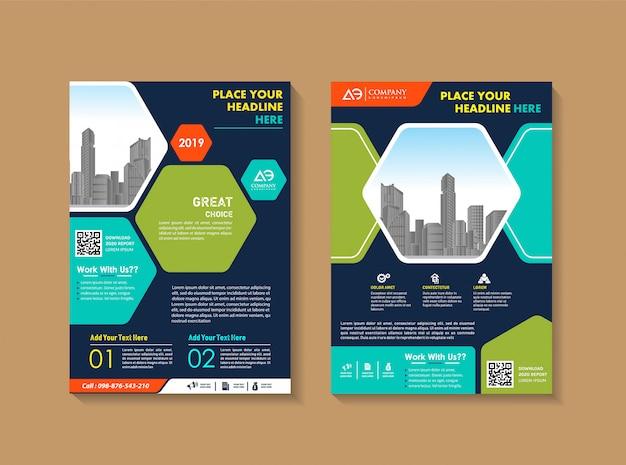 Design de folheto de layout de capa para empresa