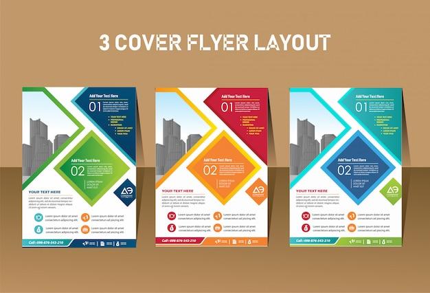 Design de folheto de layout de capa para evento de empresa e relatório
