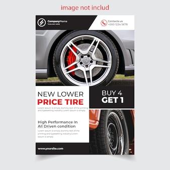 Design de folheto de loja de pneus