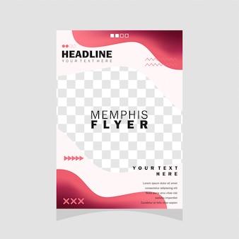 Design de folheto de memphis