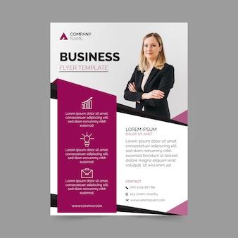 Design de folheto de modelo de negócios
