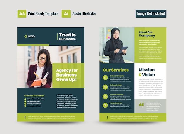 Design de folheto de negócios corporativos ou folheto e design de folheto ou folha de marketing design de folheto