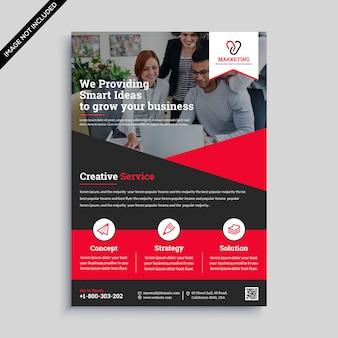 Design de folheto de negócios criativos