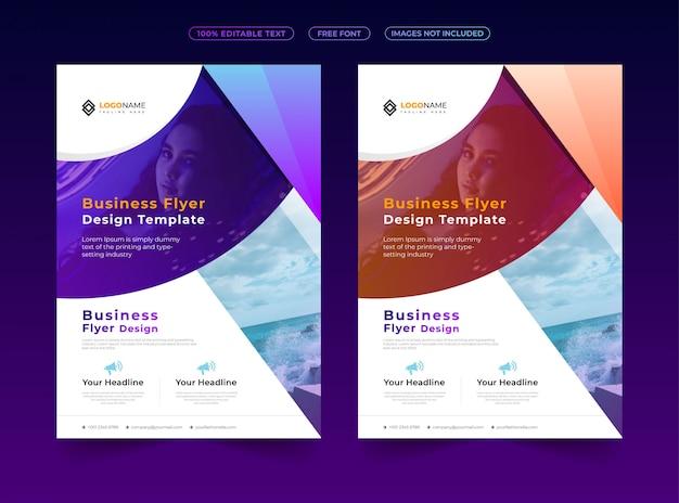 Design de folheto de negócios modernos e criativos