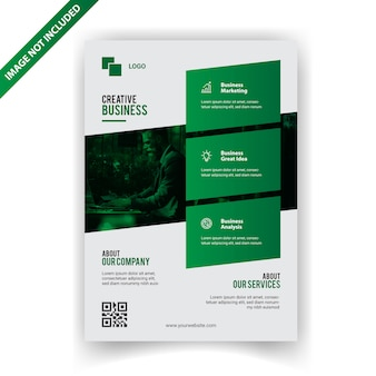 Design de folheto de negócios verdes