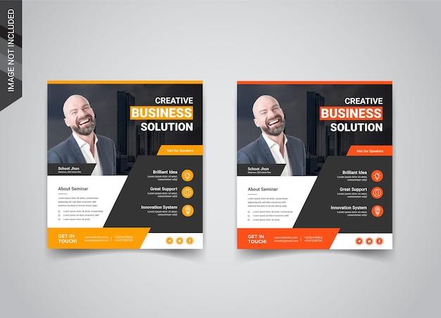 Design de folheto de postagem de mídia social empresarial
