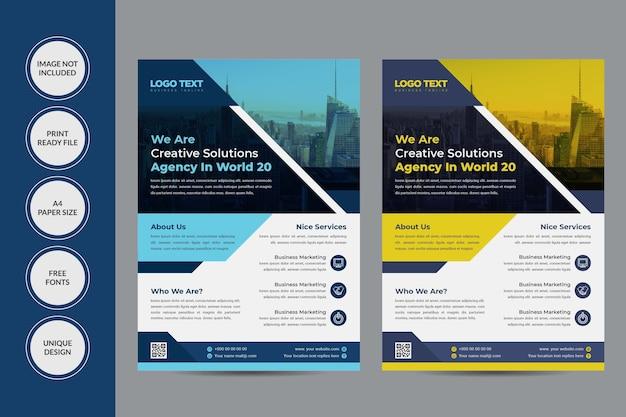 Design de folheto de serviço corporativo