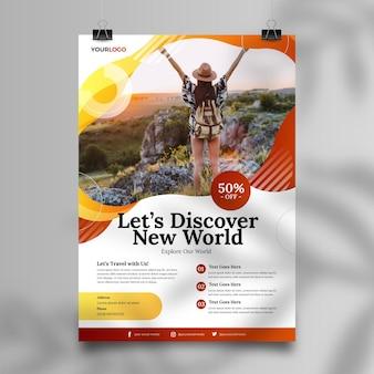 Design de folheto de venda de viagens