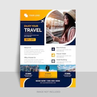 Design de folheto de viagens