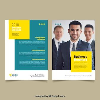 Design de folheto empresarial corporativo