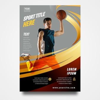 Design de folheto esporte a5