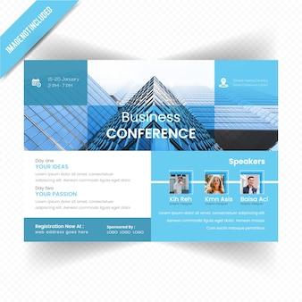 Design de folheto Horizontal de conferência de negócios