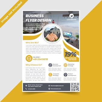 Design de folheto imobiliário ouro