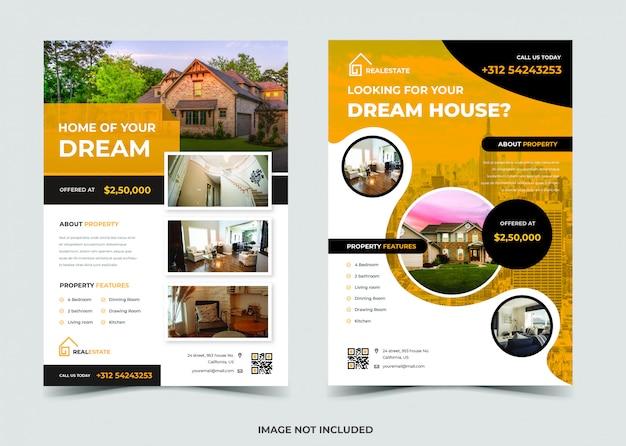 Design de folheto imobiliário