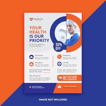 Design de folheto médico