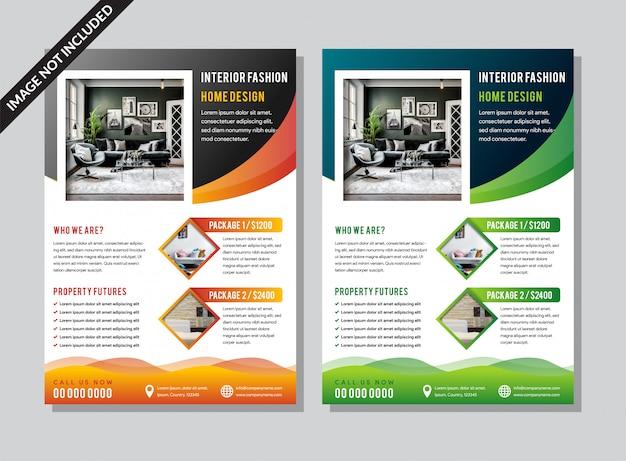 Design de folheto. modelo de negócios corporativos