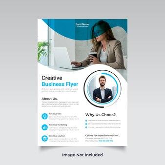 Design de folheto multiuso para negócios corporativos e modelo de página a4