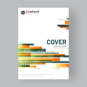 Design de folheto ou capa para negócios