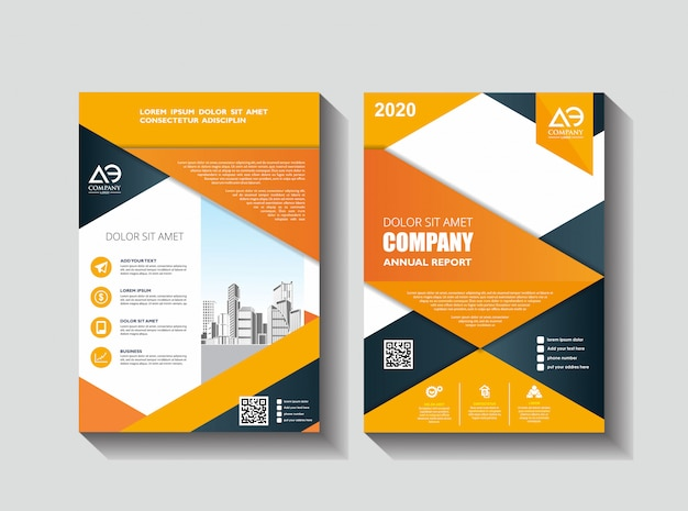 Design de folheto para evento e relatório da empresa