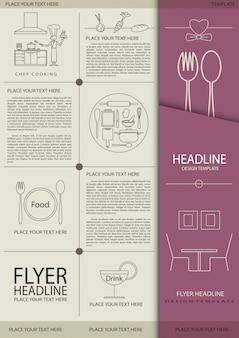 Design de folheto para modelo de comida