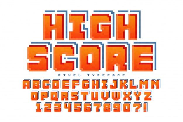 Design de fonte de pixel
