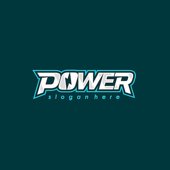 Design de fonte do logotipo de energia. logotipo da energia elétrica. emblema do vetor.