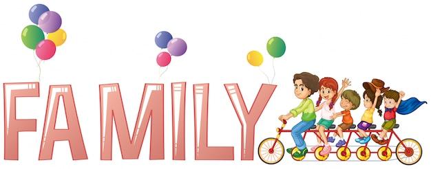 Design de fonte para a palavra família