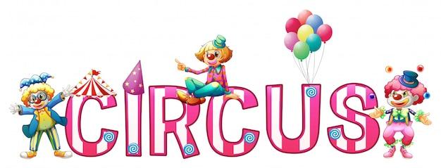 Design de fonte para circo de palavra