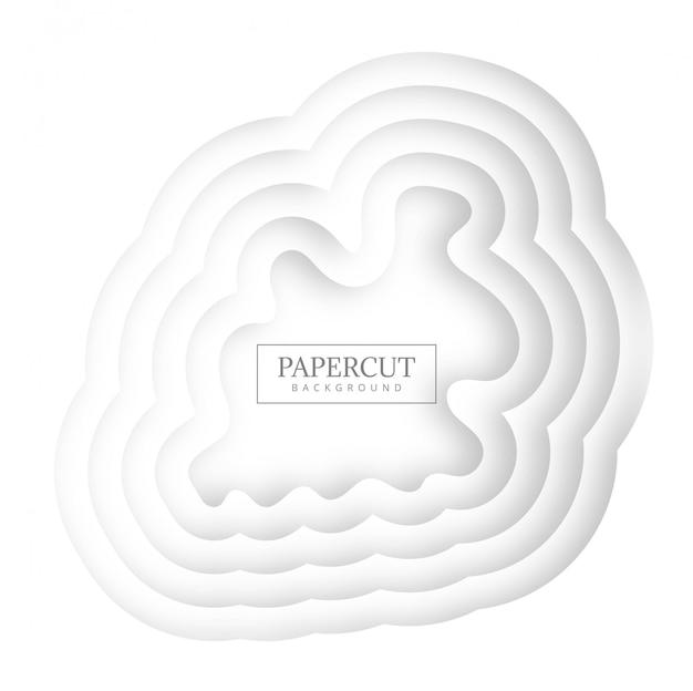Design de forma criativa papercut moderno