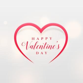 Design de forma de coração de linha simples para o dia dos namorados