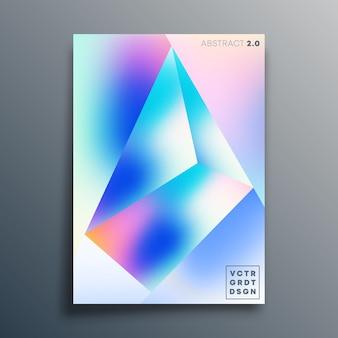 Design de forma de textura gradiente para pôster