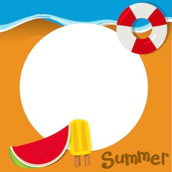 Design de fronteira com tema de verão
