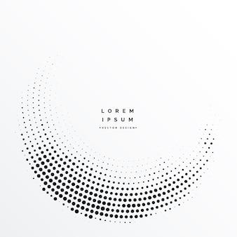 Design de fundo abstrato de pontos de meio-tom