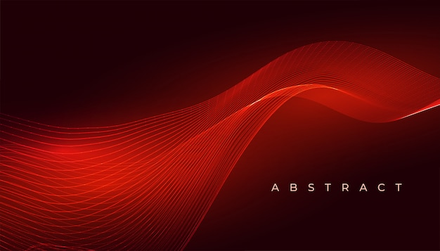 Design de fundo abstrato elegante onda vermelha brilhante