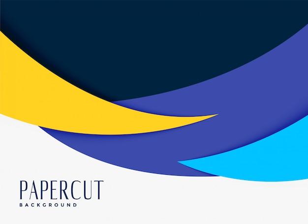 Design de fundo abstrato estilo papercut