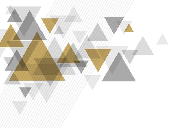 Design de fundo abstrato luxo do triângulo
