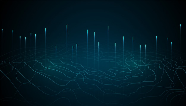 Design de fundo abstrato tecnologia digital de grande volume de dados
