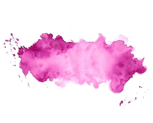 Design de fundo abstrato textura aquarela mancha roxa